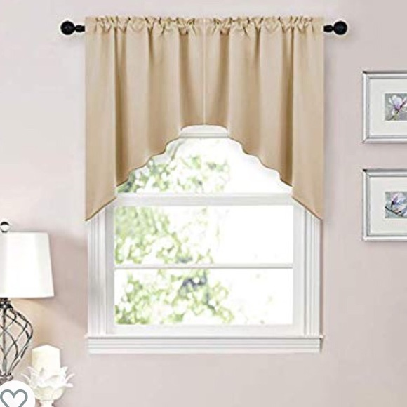 NICETOWN Kitchen Tier Curtain Valance